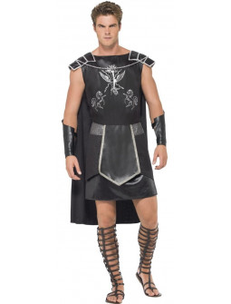 Disfraz de Gladiador Oscuro con Capa para Hombre