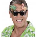 Gafas Hawaianas con Palmera y Flamenco
