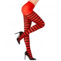 Pantys de rayas en Rojo y Negro
