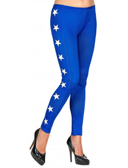 Leggings de Wonder Lady Azules con Estrellas