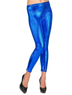 Leggings Azul Metalizado para Adulta