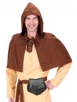 Bolsa Medieval para el Cinturón de Polipiel Negra