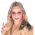 Cinta Hippie para el Pelo con Plumas de Pavo Real