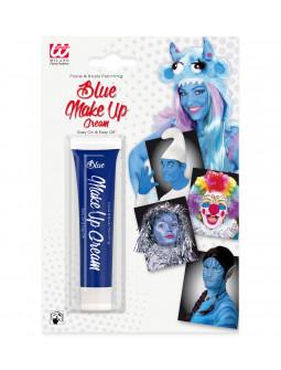 Maquillaje gel en azul