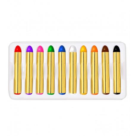 Diez colores de pinturas