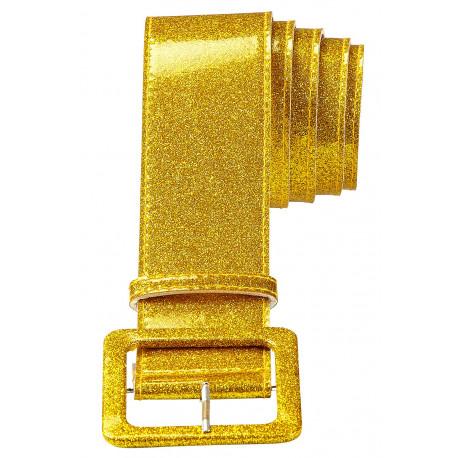Cinturón Dorado con Purpurina Disco Años 70