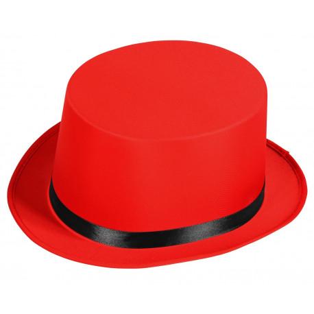 Chistera de Domador Roja con Cinta Negra