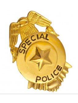 Placa metalica de Policia
