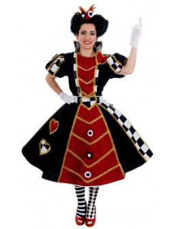 Disfraz de Reina de Corazones Premium para Mujer