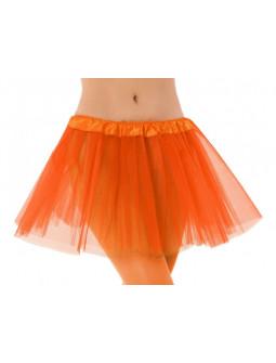 Falda de Tutú Naranja para Adulto