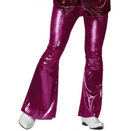Pantalón de Campana Disco Fucsia para Hombre