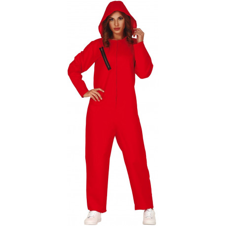Disfraz de Mono Rojo con Capucha para Mujer
