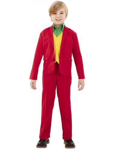 Disfraz de Joker Rojo Elegante para Niño