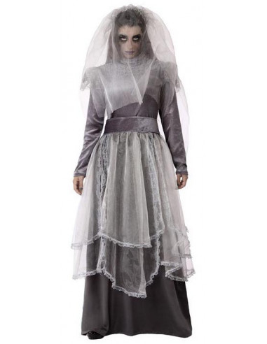 Disfraz de Novia Llorona Zombie para...