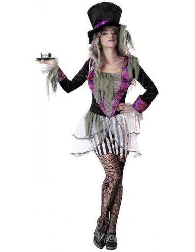 Disfraz de Sombrerera Zombie para Mujer