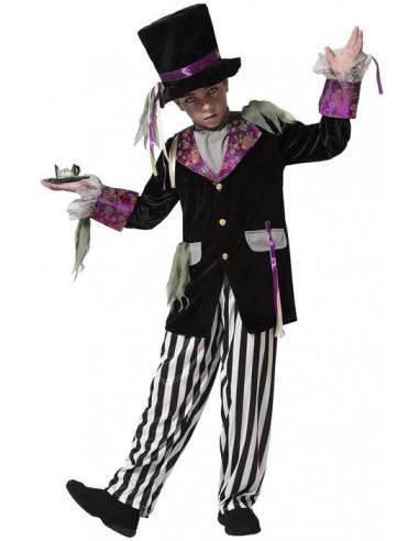 Disfraz de Sombrerero Zombie para Niño