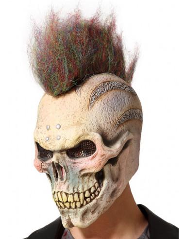 Máscara de Esqueleto Punk con Cresta
