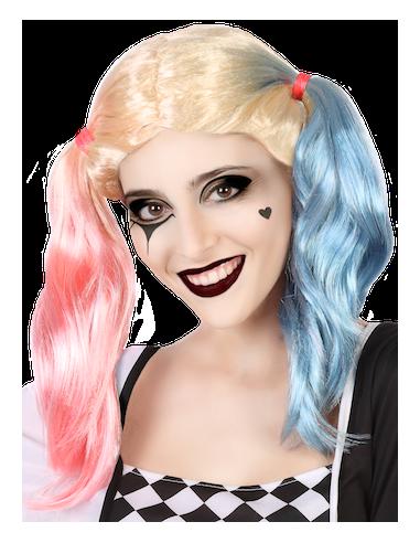Peluca de Harley Villana Rosa y Azul