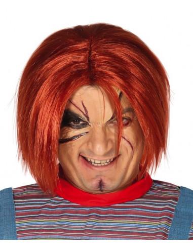 Peluca Naranja de Chucky para Adulto