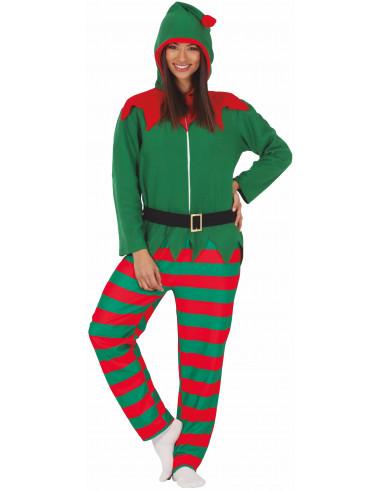 Disfraz de Elfo Navideño Pijama para...