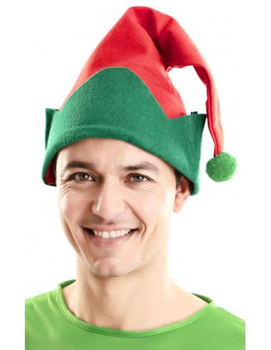 Gorro de Elfo de Navidad Rojo y Verde