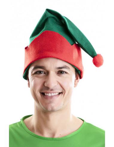 Gorro de Elfo de Navidad Verde y Rojo