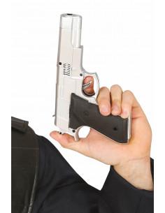 Pistola de Policía Plateada