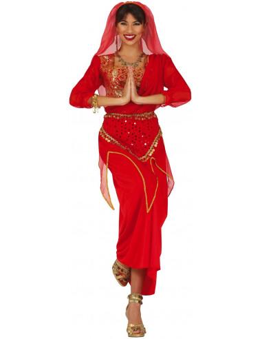 Disfraz de India Bollywood Rojo para...