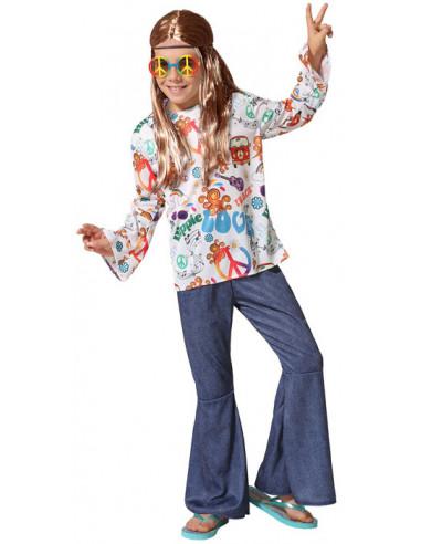 Disfraz de Hippie Jeans Estampado...
