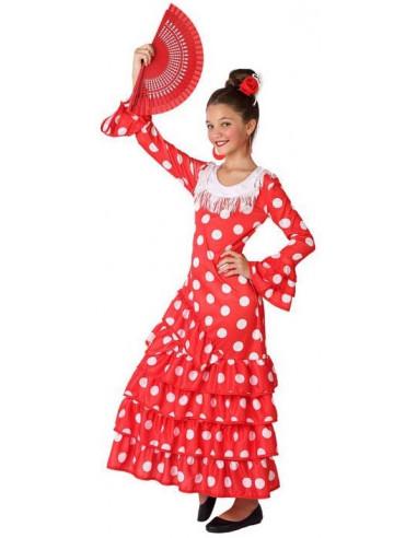 Disfraz de Flamenca Rojo Infantil