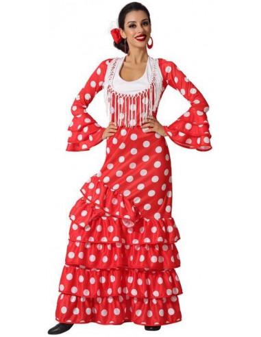 Disfraz de Flamenca Rojo para Adulto