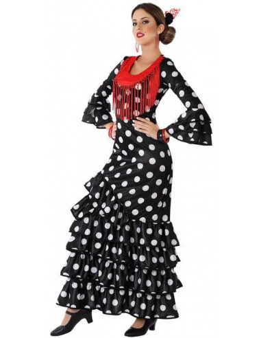 Disfraz de Flamenca Negro para Adulto
