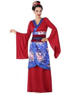 Disfraz de Geisha Granate y...