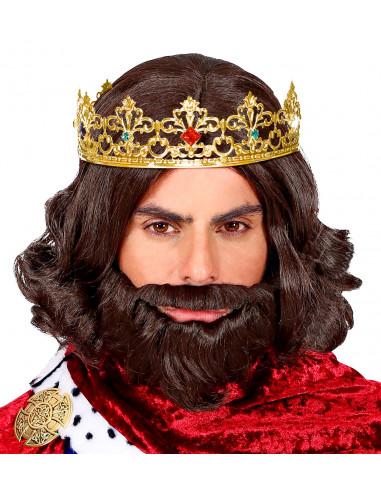 Corona de Rey Mago Dorada Metálica...