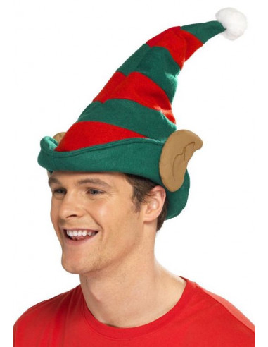 Gorro de Elfo de Navidad con Orejas