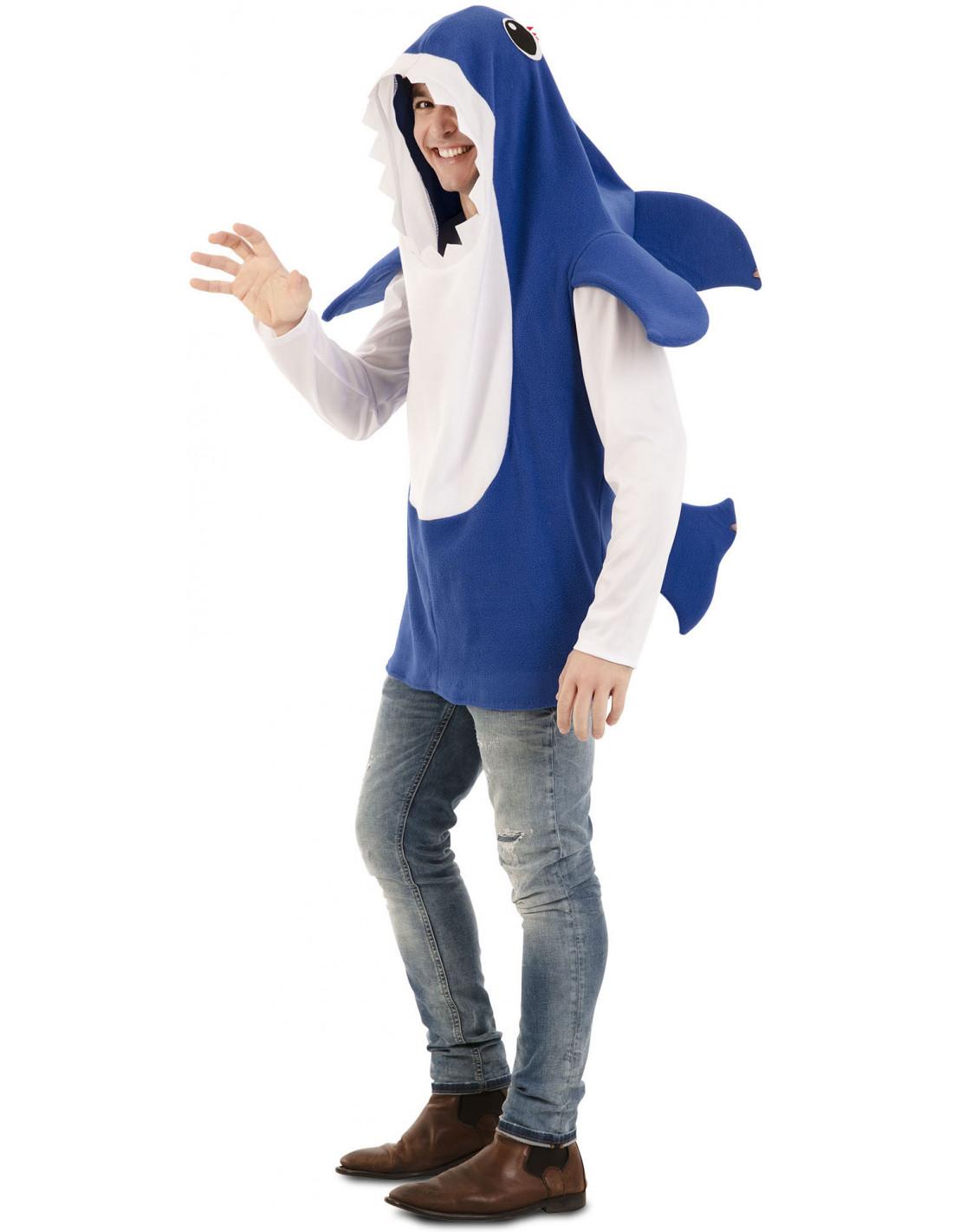 Disfraz De Baby Shark Azul Para Adulto Comprar Online