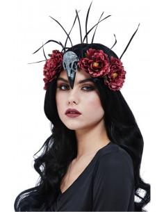 Diadema con Flores, Plumas...