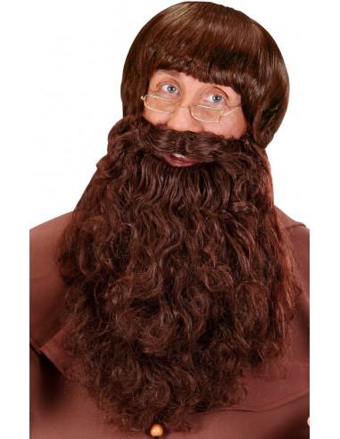 Barba Castaña Larga Ondulada