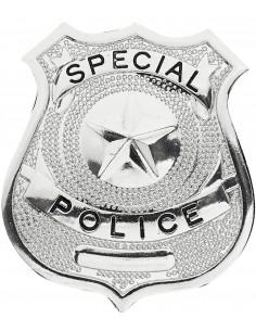 Placa Metálica Policía