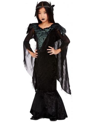 Disfraz de Reina Cuervo para Niña