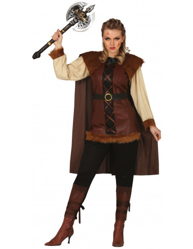 Disfraz de Vikinga Bárbara Marrón...