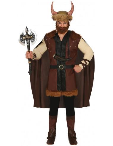 Disfraz de Vikingo Bárbaro Marrón...