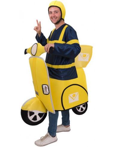 Disfraz de Cartero en Moto para Adulto