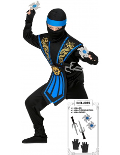 Disfraz de Ninja Azul con...