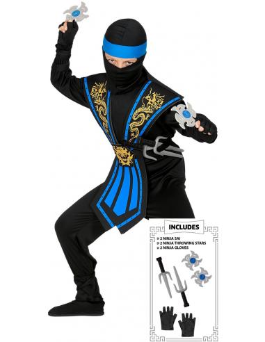 Disfraz de Ninja Azul con Accesorios...