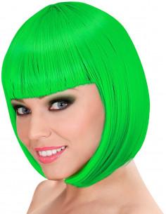 Peluca Verde Corta con...
