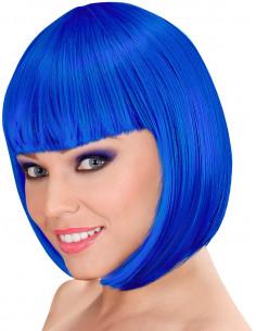 Peluca Azul Eléctrico Corta