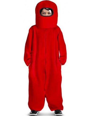 Disfraz de Among Us Rojo para Niño