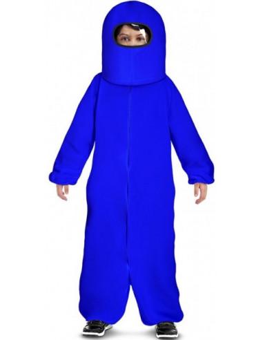 Disfraz de Among Us Azul para Niño
