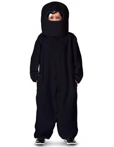 Disfraz de Among Us Negro para Niño